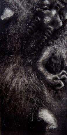 "Goat In Agony, Monotype, 32"" x 14"""