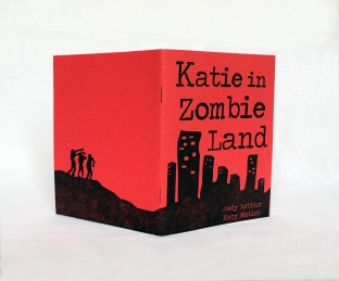 Katie in Zombieland, Xerox ink-wash images with letterpress cover
