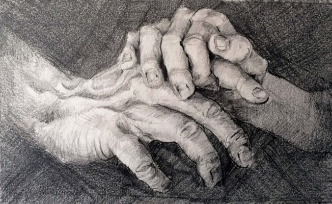 With Dad Study, graphite on Strathmore