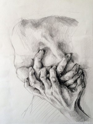 Betrayed Study, graphite on Strathmore