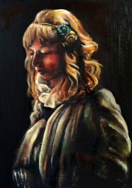 Self Portrait, oil on hardboard