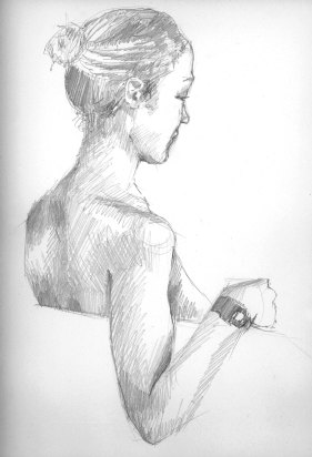 Figure Study, graphite on Strathmore